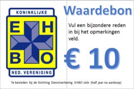 Waardebon Stichting Dienstverlening 10 euro