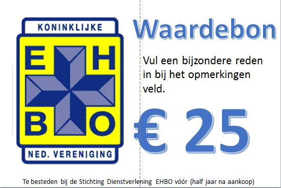 Waardebon Stichting Dienstverlening 25 euro
