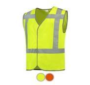 reflecterende polyester vest - geel