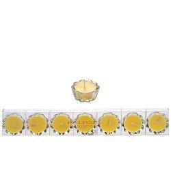 Home Society - Votive kaarsjes in glas - geel