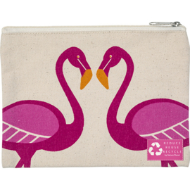 Make-up tasje Flamingo