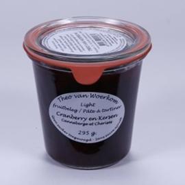 Suikervrije cranberry en kersen jam