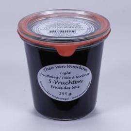 Vijf vruchten suikervrije jam
