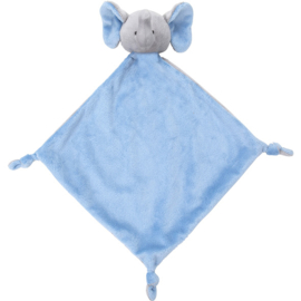 Knuffellap olifant blauw