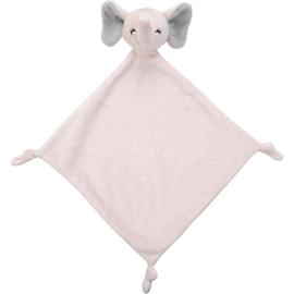 Knuffellap olifant roze
