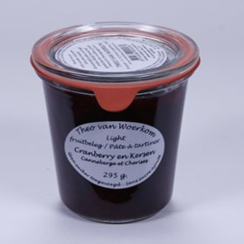 Suikervrije jam cranberries en kersen