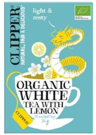 Clipper white tea with lemong