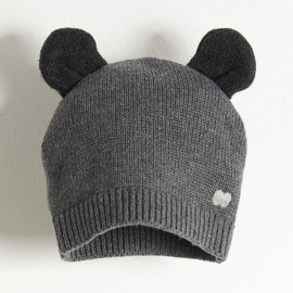 hat with ears - dark grey [the bonniemob]