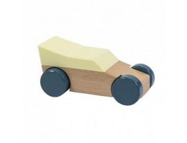 houten auto - geel