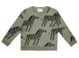 sweater  - zebra [walnut & walrus]