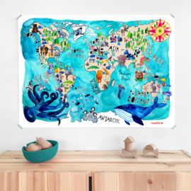 poster - world map [frau ottilie]