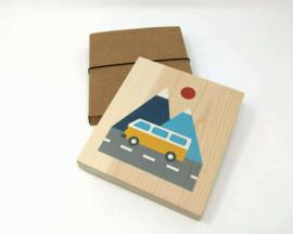 illustratie op hout - bus [lubulona]