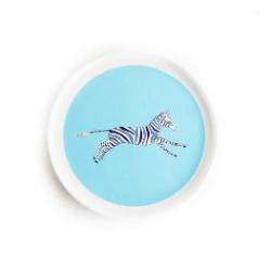 bord - blauwe zebra