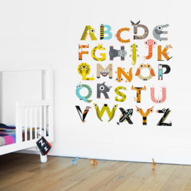 muurstickers set 'alphabet' [the jam tart]