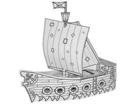 bouwpakket - piratenboot