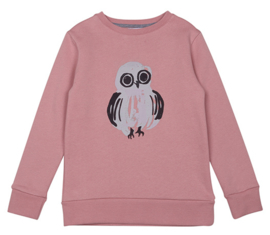 sweater - owl dark rose [one we like]