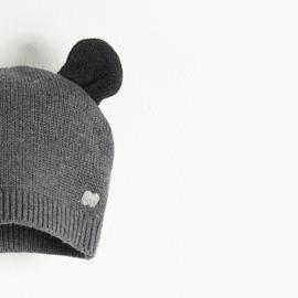 hat with ears - dark grey [the bonniemob]