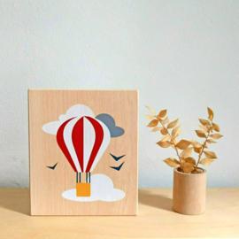 illustratie op hout - ballon [lubulona]