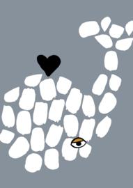poster - whale heart [wonder & rah]