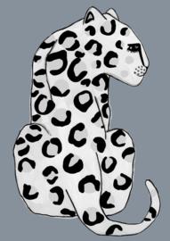 poster - blue leopard [wonder & rah]