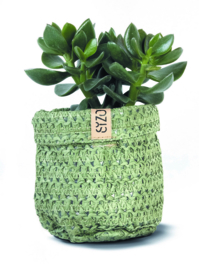 SIZO Knitted Paper Bag- Olijf groen