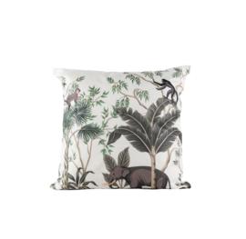 Buitenkussen jungle dieren   45 x 45 cm