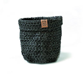 SIZO Knitted Paper Bag - Zwart