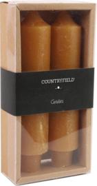 Set van 2 kaarsen Countryfield 15,5cm | Amber
