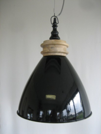 Hanglamp zwart glossy 38 cm