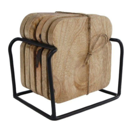 Onderzetters Bread 6 stuks 10x10x5cm