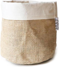 SIZO jute bag naturel / wit