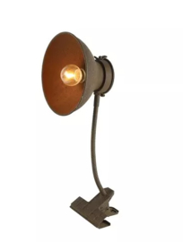 Bruine klemlamp Marc | Countryfield