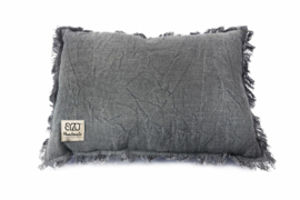 SIZO kussen denim-grey met vulling 30x45cm