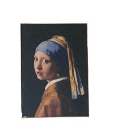 Muse Meisje met parel op perk. 51x71cm