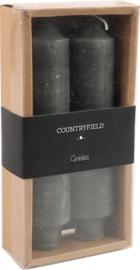 Set van 2 kaarsen Countryfield 15,5cm | Grijs