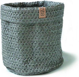 SIZO Knitted Paper Bag grijs