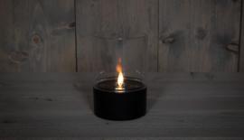 """Solar tafellamp zwart met bewegende """"vlam"""" 9 X 13CM"""