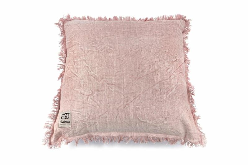 SIZO kussen pink met vulling 45 x 45cm