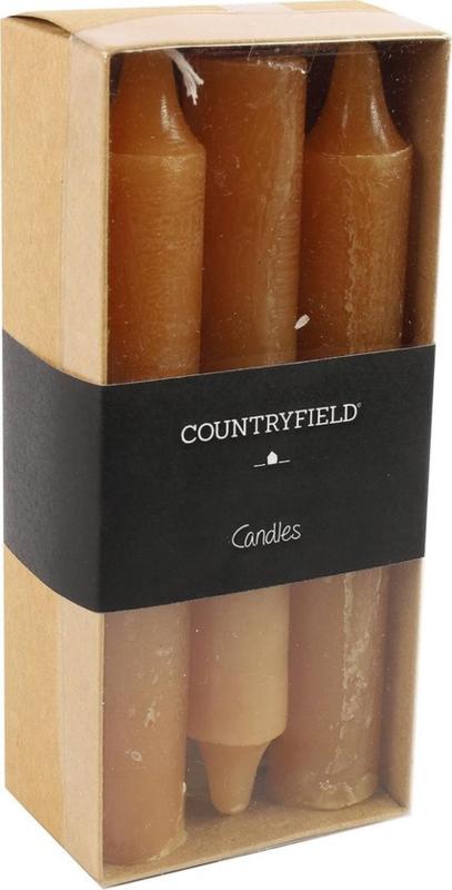Set van 6 kaarsen Countryfield 14cm | Amber