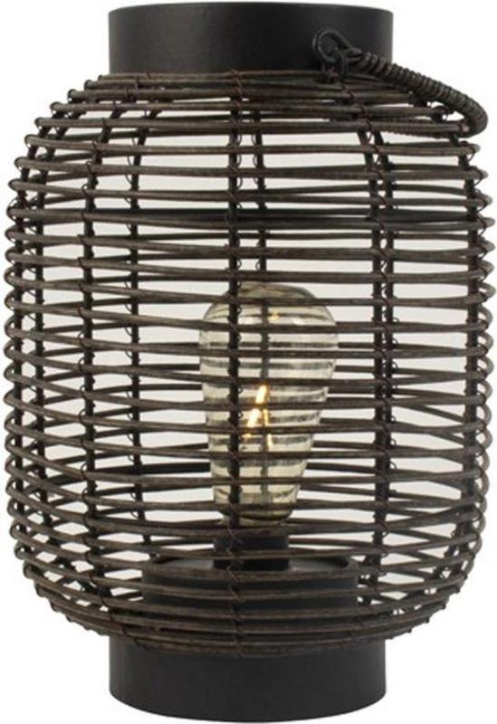 Gusta Rotan lantaarn met LED ⌀ 17cm