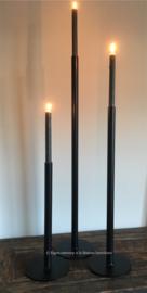 Set van 3 strakke kandelaars met grote ronde voet, 40-60-80