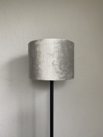 Cilinder lampenkap velvet, kleur gemstone zilver