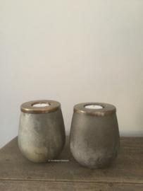 Theelicht  brons