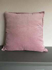 Velvet kussen, roze