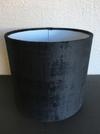 Cilinderkap velvet, kleur zwart mêlee velours