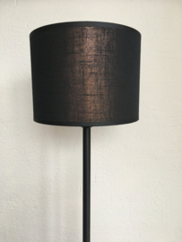 Cilinder lampenkap, kleur metallico zwart