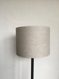 Cilinder lampenkap, kleur linnen donker