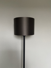 Cilinder lampenkap velvet, kleur kalian taupe ( 20x15 cm. )