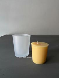 Glaasje voor voor votive geurkaarsje Bridgewater, frosted