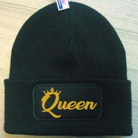 Muts Queen + Kroon (Goud)